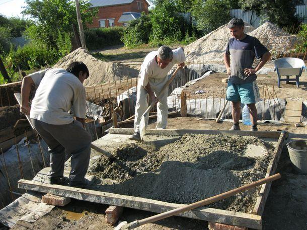 Замешивание бетона вручную марка раствора цементного для стяжки