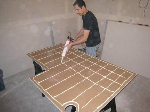 Бескаркасный способ выравнивания стен гипсокартоном