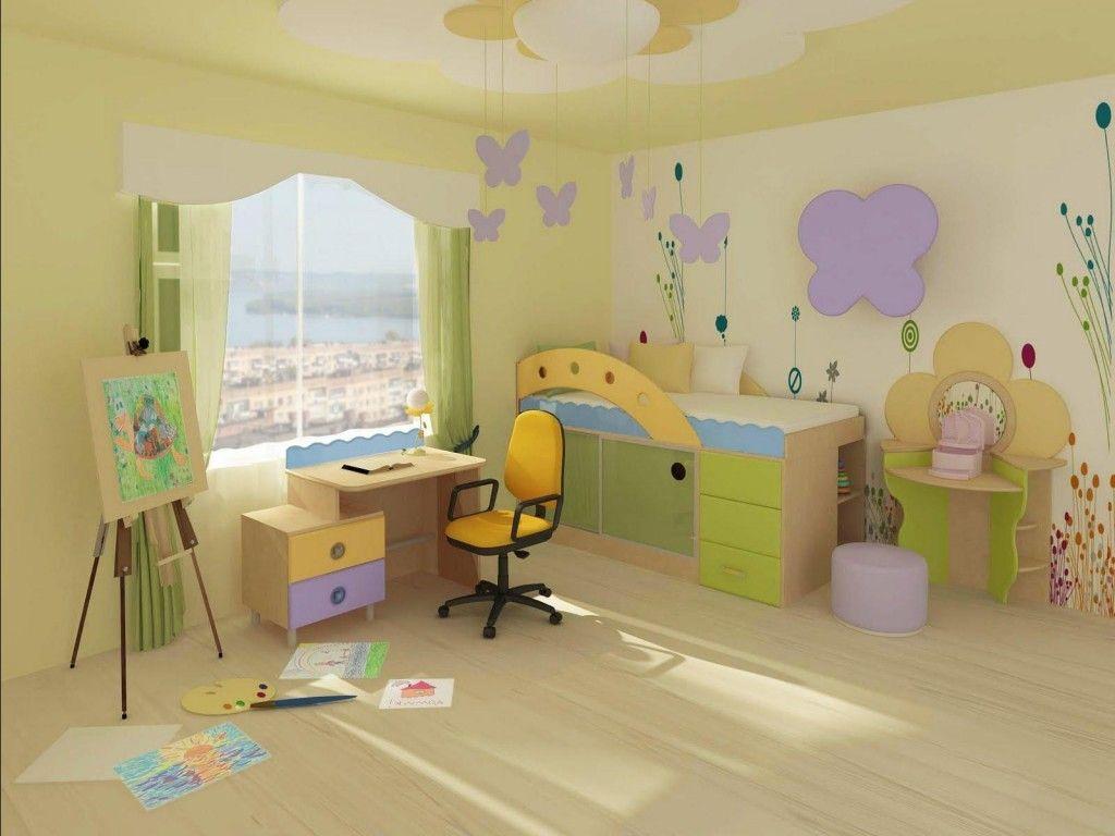 Сочетание обоев при оформлении детской комнаты