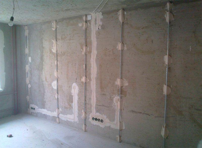 Как штукатурить стены ротбандом?