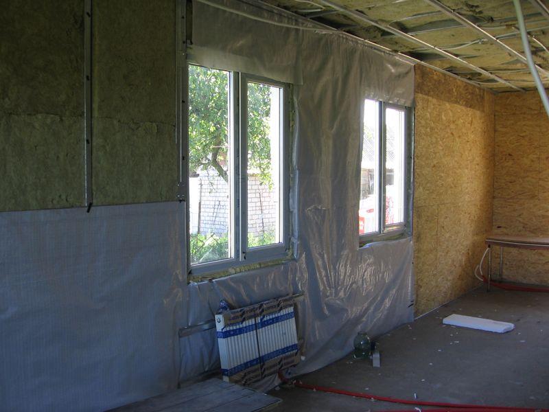 Внутреннее утепление дома из бруса