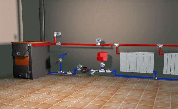 Система водяного отопления в частном доме