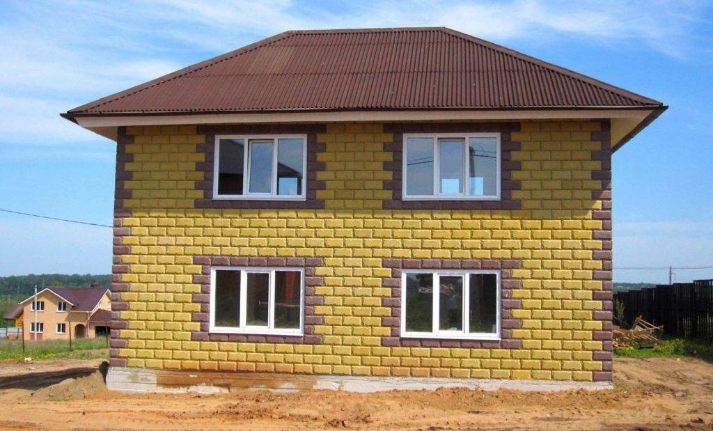 Дом из строительных блоков