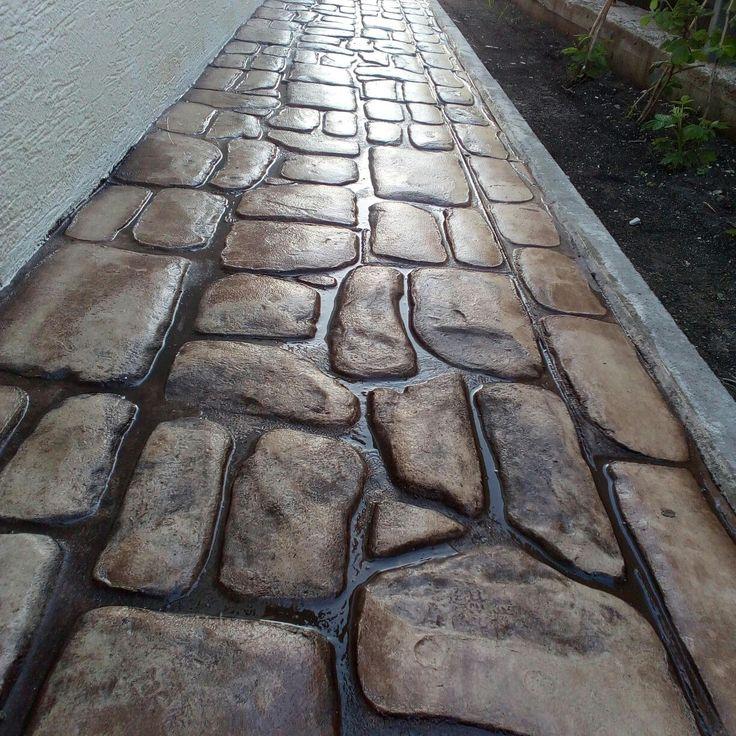 Тротуарная плитка. Бетонная основа