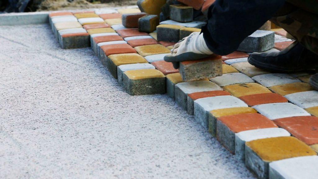 Тротуарная плитка. Укладка тротуарной плитки на бетон